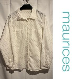 Maurices Women's Plus Size 2 Shirt Top Button Down